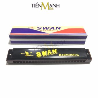 Kèn Harmonica Swan 24 lỗ Tremolo SW24-2 Key C (Đen)