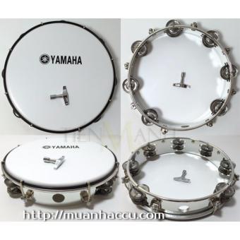 Trống lắc tay - Lục lạc gõ bo Tambourine Yamaha MT6-102A (Trắng)