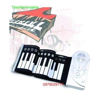 Đàn piano điện tử bàn phím cuộn dẻo 49 keys + Đèn thần cảm ứng