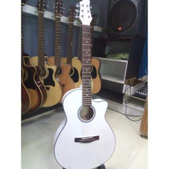 Đàn guitar Acoustic DVE85J (màu trắng) +Tặng bao da, phụ kiện