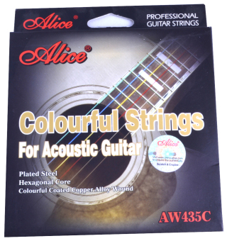Dây đàn guitar màu colourful strings Alice AW-435