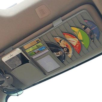 Giá cài đĩa CD trên ô tô (Ghi xám)