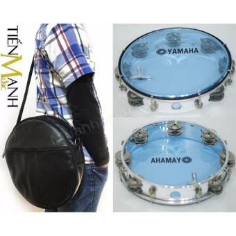 Combo Trống lắc tay & Bao đựng Lục Lạc Gõ Bo Tambourine Yamaha MT6-102B (Xanh)
