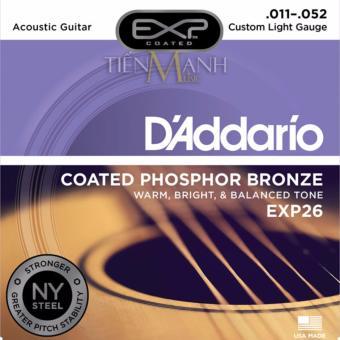 Bộ Dây Đàn Guitar Acoustic D'Addario EXP26