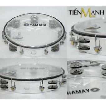 Trống lắc tay - Lục lạc gõ bo Tambourine Yamaha MT6-102T (Trong suốt)