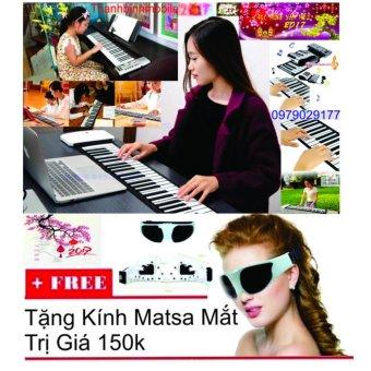Đàn piano điện tử bàn phím cuộn dẻo 49 keys+Kính Mát sa Mắt