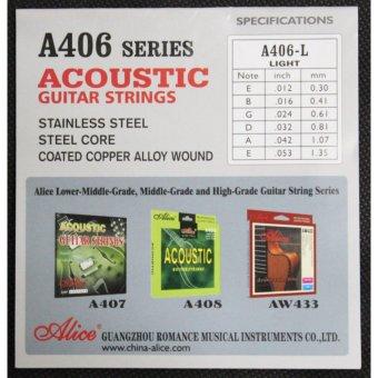 Bộ hộp 6 dây đàn ghi-ta Acoustic Alice A406