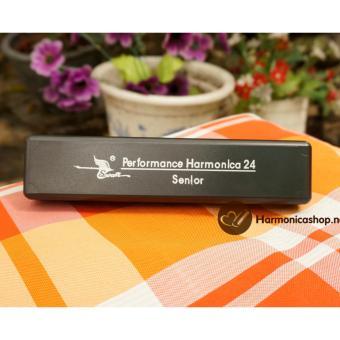 Kèn Harmonica Tremolo Swan senior 24 lỗ ( đen bạc)