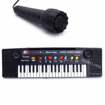 Đàn Piano cho bé Mq3700 có Micro (Đen phối trắng)