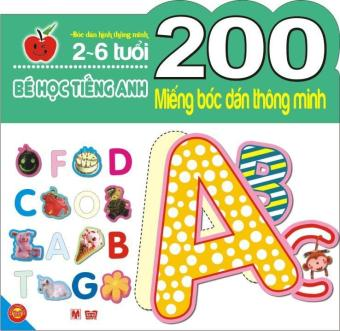200 Miếng Bóc Dán Tm- Bé Học Tiếng Anh