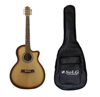 Bộ Đàn guitar acoustic SAG04VS và Bao đàn guitar Sol.G 3 lớp