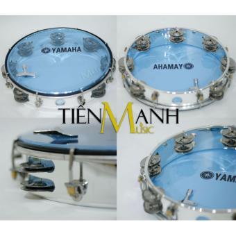 Trống lắc tay - Lục lạc gõ bo Tambourine Yamaha MT6-102B (Xanh)
