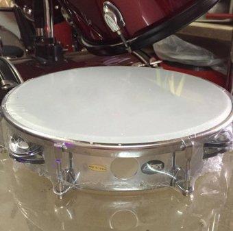 Trống lắc tay Tambourine Lazer PE-061B (Màu Trắng)