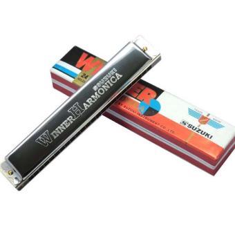 Kèn harmonica tremolo Suzuki Winner 24 key C (Bạc)