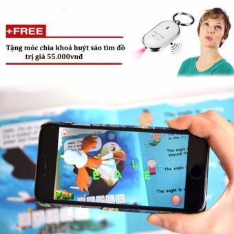 Sách Anh-Việt 3D Nông trại kỳ thú Aniville + Tặng móc khoá huýt sáo
