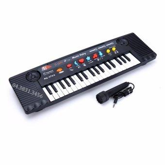 Đàn Piano cho bé Mq3700 có Micro chỉnh âm sành điệu (Đen phối trắng)