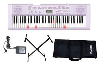 Bộ 1 Organ Casio LK-247 phím sáng (Trắng) + 1 adaptor + 1 chân X đơn + 1 bao casio