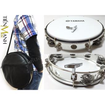 Combo Trống lắc tay & Bao đựng Lục Lạc Gõ Bo Tambourine Yamaha MT6-102A (Trắng)