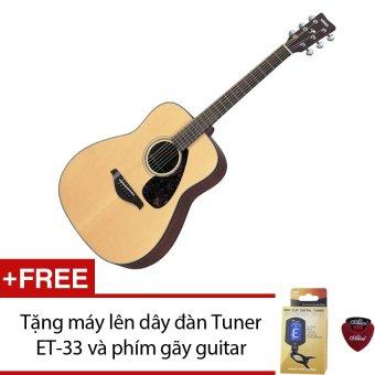 Guitar acoustic Yamaha F370 (màu vàng gỗ) + Tặng máy lên dây đàn Tuner ET-33 và 1 phím gãy guitar