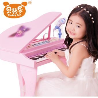Đàn Piano Mini Có Mic Cho Bé (Hồng)