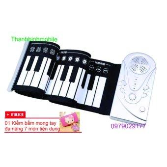 Mua Đàn piano điện tử bàn phím cuộn dẻo 49 keys + Kiềm bấm mòng tay 7 món giá tốt nhất