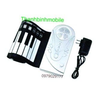 Đàn piano điện tử bàn phím cuộn dẻo 49 keys + Kiềm bấm mòng tay 7 món