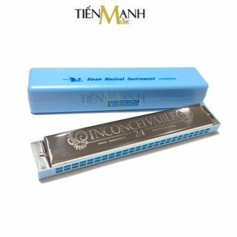 Kèn Harmonica Swan 24 lỗ Tremolo Inconceivable SW24 Key C (Xanh)