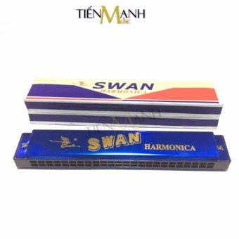 Kèn Harmonica Swan 24 lỗ Tremolo SW24-2 Key C (Xanh)