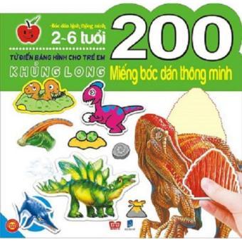 200 Miếng Bóc Dán Thông Minh-Từ 2-6T -Khủng Long