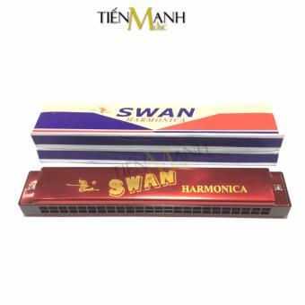 Kèn Harmonica Swan 24 lỗ Tremolo SW24-2 Key C (Đỏ)