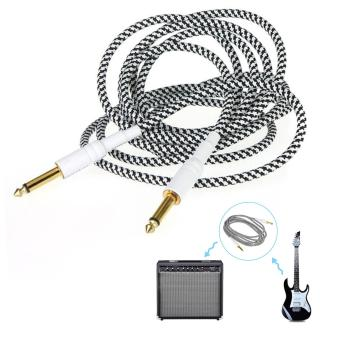 Moonar 3M 6.5mm Jack Electric Patch Guitar Amplifier Instrument Woven Cable Cord - intl