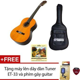 Bộ 1 Guitar Yamaha Classic C40 + 1 bao đàn + 1 dây Alice A106 + Tặng máy lên dây đàn Tuner ET-33 và 1 phím gãy guitar