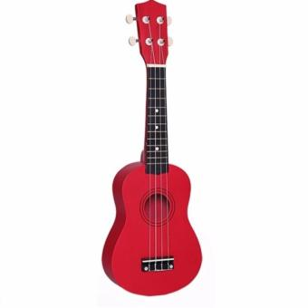 Đàn ukulele soprano màu đỏ