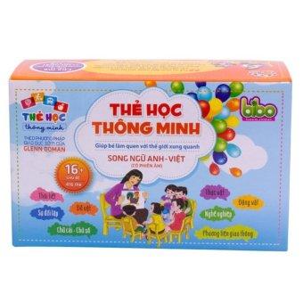 Bộ thẻ học thông minh song ngữ Anh - Việt (16 chủ đề- 416 thẻ)
