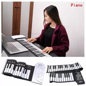 Đàn piano điện tử bàn phím cuộn dẻo 49 keys (Trắng) - Hàng Nhập Khẩu