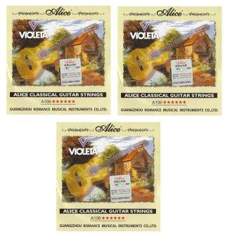 Bộ 3 hộp 6 dây đàn Guitar Classic A106
