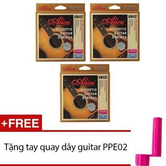 Bộ 03 bộ dây đàn AW432 + Tặng tay quay dây guitar PPE02