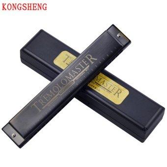 Kèn harmonica tremolo Kongsheng Master key C (Đen Nhám)