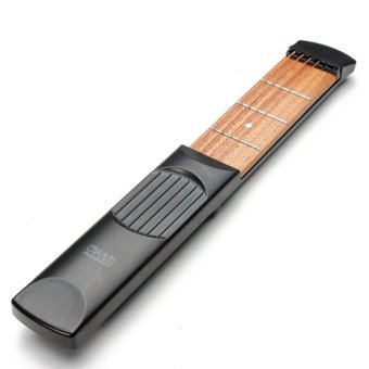 Portable Pocket Guitar Practice Tool Gadget 4 Fret Model For Beginner - Intl