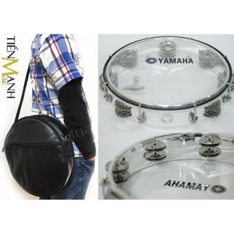 Combo Trống lắc tay & Bao đựng Lục Lạc Gõ Bo Tambourine Yamaha MT6-102T (Trong suốt)