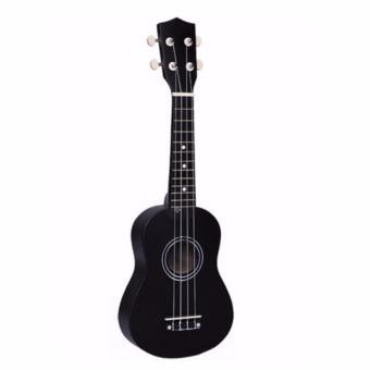 Đàn ukulele Soprano đen trơn