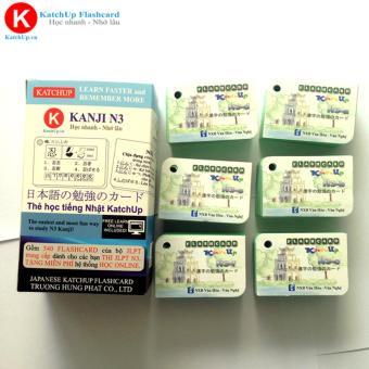 [Ép nhựa] Bộ Flashcard Hán Tự N3 (Kanji n3) 6 cuốn kèm mã học và thi JLPT online   KatchUp Flashcard
