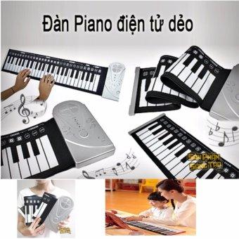 Đàn piano điện tử bàn phím cuộn dẻo 49 keys (Trắng) Hàng Nhập Khẩu