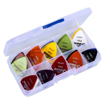 30pcs Acoustic Electric Guitar Picks Plectrums +1 Plastic Picks Box Case - INTL