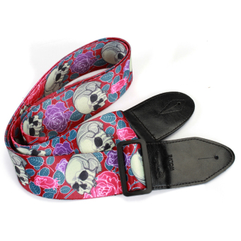 Adjustable Buckle Guitar Strap w/ Skull Print - Intl