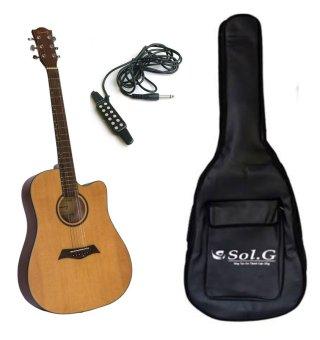 Bộ đàn guitar acoustic Sunny SN1041 + Bao đàn 3 lớp Sol.G BGA001 và Pick up đàn guitar KQ3
