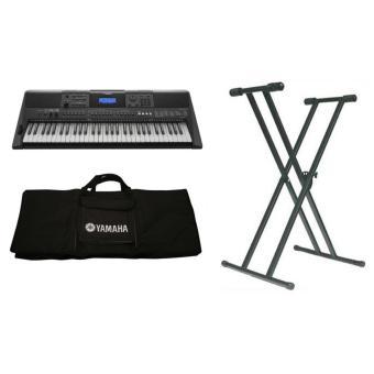 Bộ đàn organ Yamaha PSR-E453+Bao organ Yamaha+Chân X đôi