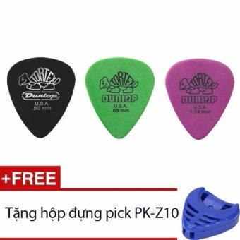 Combo 3 pick gảy guitar Dunlop tặng hộp đựng pick
