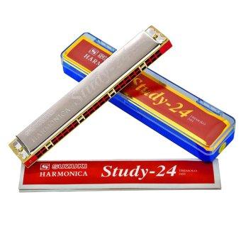 Kèn harmonica tremolo Suzuki Study 24 key C (Bạc)