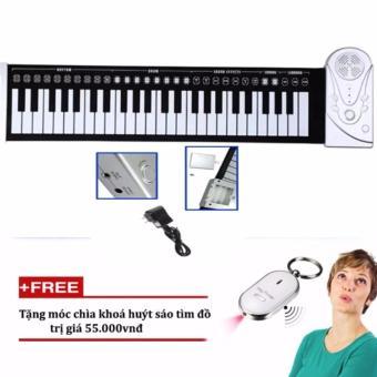 Đàn piano điện tử bàn phím cuộn dẻo 49 keys tặng kèm móc khóa huýt sáo